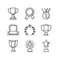 flat award icons vector image