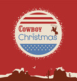 American cowboy christmas poster vector image
