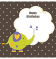 Baby greeting card with cute elephant vector image