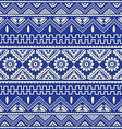 blue native american ethnic pattern vector image