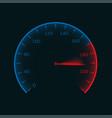 digital speedometer vector image