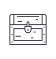 dower chest line icon sign vector image