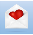 envelope-heart vector image