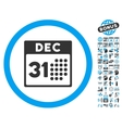 Last Year Day Flat Icon With Bonus vector image