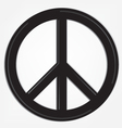 Peace sign logo vector image