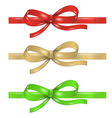 set of differenet ribbons with bow vector image
