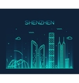 Shenzhen skyline trendy linear vector image