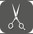 The hairdressing scissors icon Barbershop symbol vector image