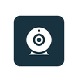 web camera icon Rounded squares button vector image