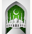 The mosque with half moon vector image
