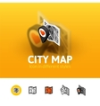 City map icon in different style vector image
