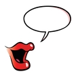 Cartoon female mouth with speech bubble vector image vector image