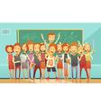 Traditional School Education Retro Cartoon Poster vector image