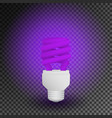 fluorescent ultraviolet economical light bulb vector image