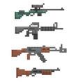 pixel firearm game vector image vector image