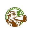 Movie Director Bullhorn Vintage Movie Camera Retro vector image