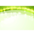 Green shiny waves abstract background vector image