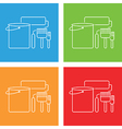 painting icon set vector image
