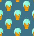Mint ice cream seamless pattern Cool dessert in vector image