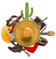 Cowboy Concept with Sombrero vector image