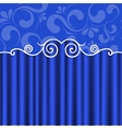 background blue theater curtains vector image