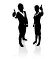 business people thumbs up vector image
