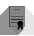 check mark sign black icon vector image