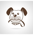 dog with leash vector image