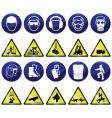 mandatory hazard vector image