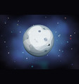 moon planet on space background vector image