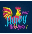 poster with Rooster and lettering vector image