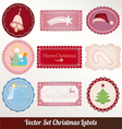 set of christmas vintage vector image