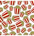 Sweet popcorn seamless pattern background vector image