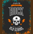 vintage rock t-shirt logo isolated on dark vector image