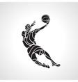 Basketball player Slam Dunk Silhouette vector image