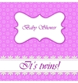Polka dot flowers baby shower twins vector image