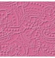 Pink hearts pattern with shadow vector image