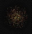 golden glitter explosion firework confetti vector image