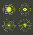 retro sun burst shapes vector image