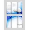 Tri-fold brochure template design vector image