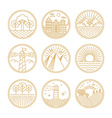 linear travel concepts vector image