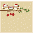 owl christmas celebration vector image