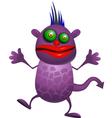 purple monster vector image