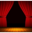 Red Curtain Composition vector image