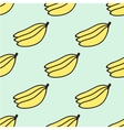 Seamless pattern with banana vector image