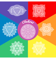 Set of seven chakras vector image