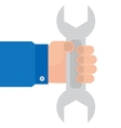 wrench in hand mechanics vector image
