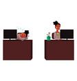 black african businesswoman secretary working vector image