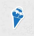 Ice-cream icon vector image