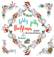 Christmas ornate frame and page corner decorations vector image
